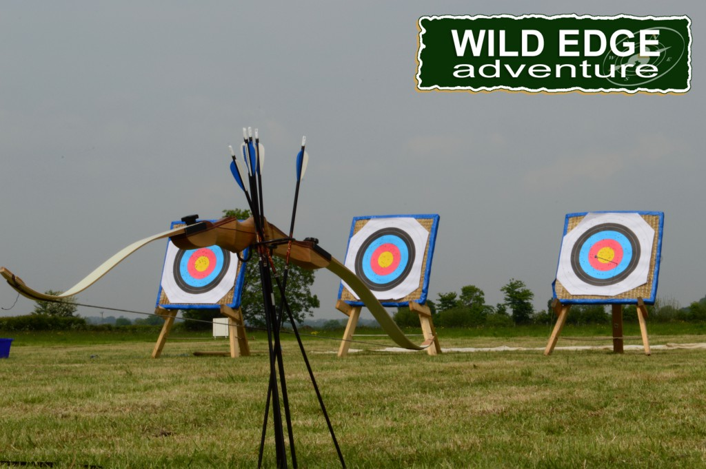 Archery target with bow